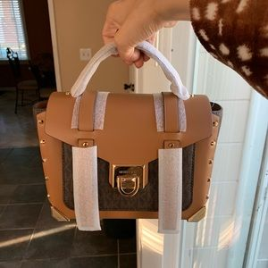Michael Kors Manhattan brown acorn crossbody bag